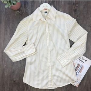 J. Crew Yellow Slim Fit Button Down